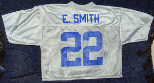 Image is loading Dallas-Cowboys-Emmitt-Smith-22-Alternate-Silver-NFL- 0de22c3a7