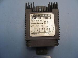 2000-2006 MERCEDES-BENZ W220 S430 S500 COOLING FAN CONTROL MODULE A0275456432