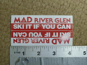 Mad River Glen Ski Resort Small 2 pack Ski It If You Can Sticker Decal