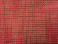 Oscar Red weave Chenille Chenille Upholstery/Craft Fabric