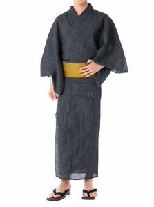 Les hommes japonais Traditionnel du Yukata Summer Kimono Japon C-6 Gray