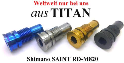 4 Farben zur Auswahl 43/% leichter SHIMANO SAINT RD-M820 1-B-Achse aus TITAN