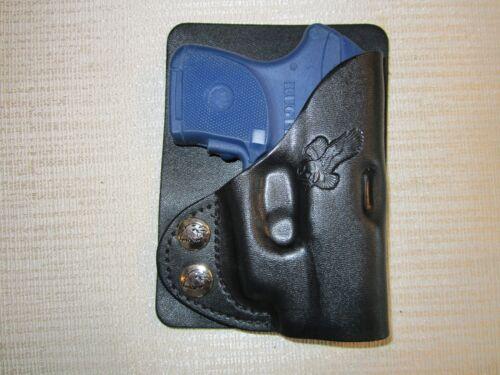Ruger lcp with ct laser /& Keltec p3at LEFT HAND wallet /& pocket holster
