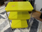 Vintage COSCO 3 Tier Utility Cart Kitchen Cart w/AC Power Cord Yellow