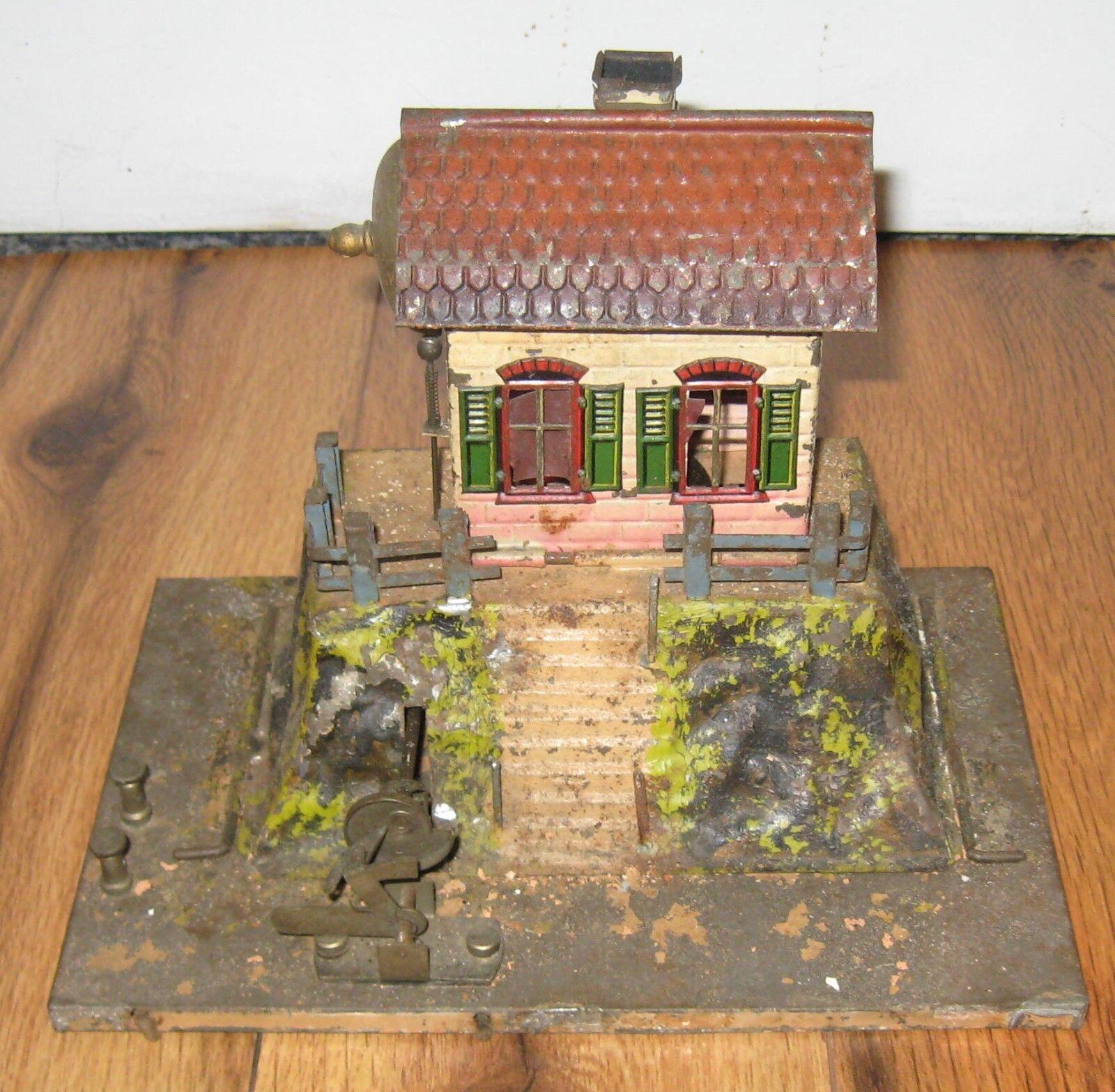 Carette Prewar German Tin Bell Guards Signal House Station Antique Bing Marklin