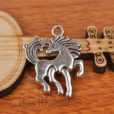 20pcs 23mm Charms Dance Horse Pendant Tibet Silver DIY Jewelry Charm Bail A7238