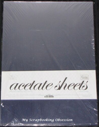 You choose quantity Clear 0.25mm Thick Couture Creations /'ACETATE SHEETS/' A4
