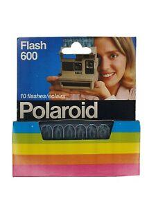 POLAROID-FLASH-600-10-FLASHES-VINTAGE-NEW-PREFECT-CONDITION
