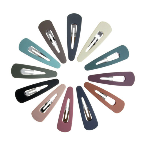 12 pcs//Set Snap Hair Clips for Hair Clip Pins Hairpins Color Barrettes Accessory