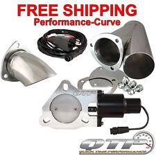 """QTP Quick Time Performance 3"""" Electric Exhaust Cutout Kit - QTEC30CPSK1"""