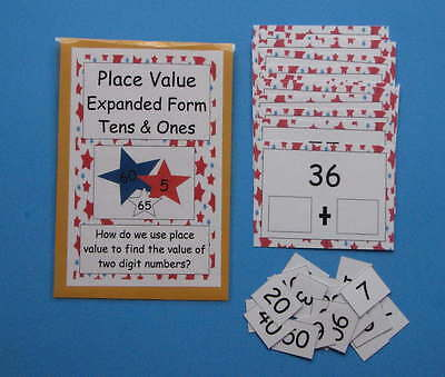 Teacher Made Math Center Resource Game  Place Value Expanded Form Tens & Ones