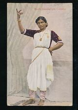 Ceylon Sri Lanka COLOMBO Nauch Dancing Girl used 1927 PPC