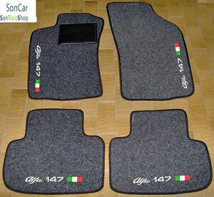 4block ALFA ROMEO 147 TAPPETI AUTO SU MISURA 4 decori