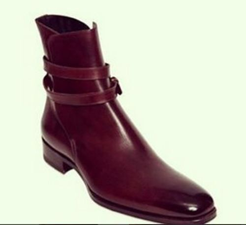 MEN HANDMADE GENUINE LEATHER schuhe BURGUNDY ANKLE ANKLE ANKLE HIGH JODHPUR CASUAL Stiefel 7b27ae
