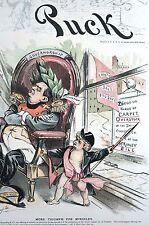 Governor McKinley 1891 WILMERDING SMITH CARPET CO Matted Political Cartoon Print
