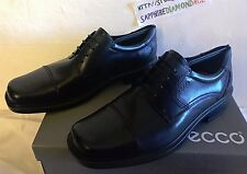 ECCO Helsinki Cap-Toe Men´s Dress Shoes Black Noir US 10-10.5 05017400101 NEW!