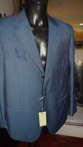 Calhoun-Kleid-Neu-54-820-00-Etikett-Authentisch-Wolle-Nadelstreifen-Blau