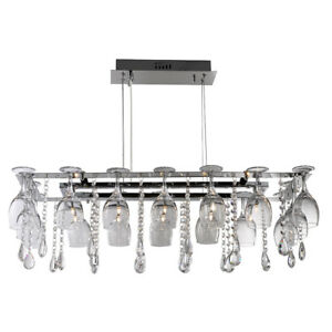 Searchlight 10 lights modern wine glass chrome ceiling fitting image is loading searchlight 10 lights modern wine glass chrome ceiling mozeypictures Images