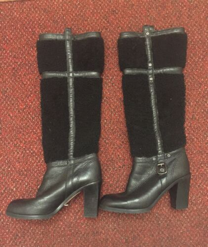 Celine Autentici pelle stivali stivali di pelle Celine Autentici Autentici di w4zqwUA