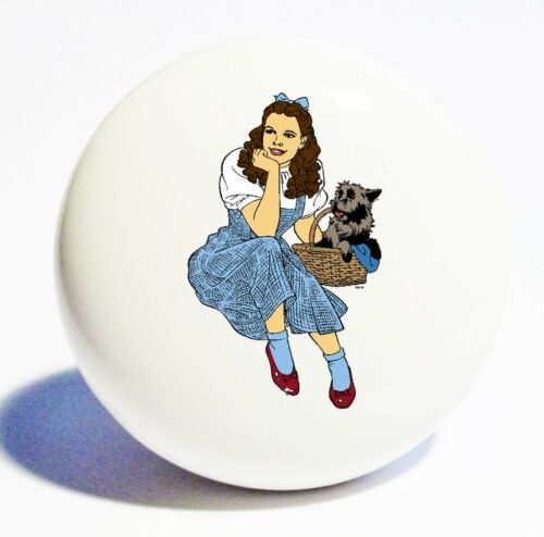 WIZARD OF OZ DOROTHY TOTO HOME DECOR CERAMIC KNOB DRAWER CABINET PULL