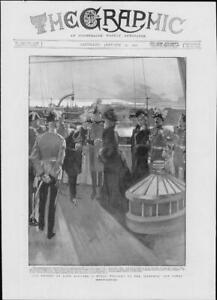1901-Antique-Print-ROYALTY-HAMPSHIRE-Isle-Wight-Cowes-Lord-Roberts-139