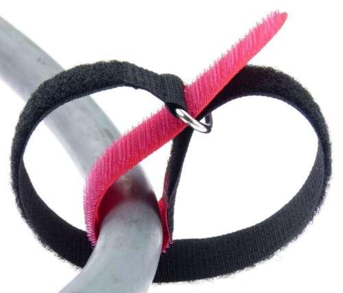 30 x cable cinta de velcro 30 cm x 25 mm rojo cinta de velcro cable velcro banda viga reticulada con corchete