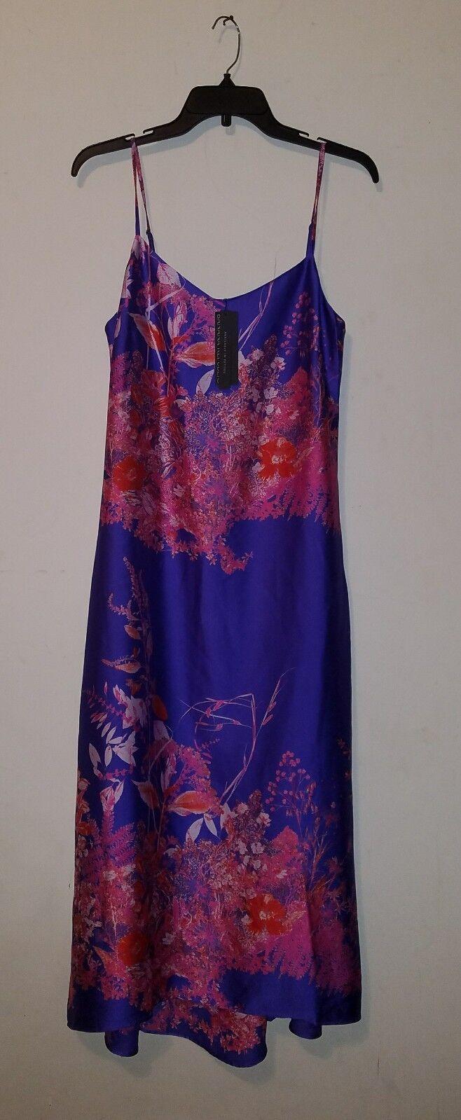 NWT Banana Republic Woherren Floral Strappy Midi Slip dress  lila sz 4