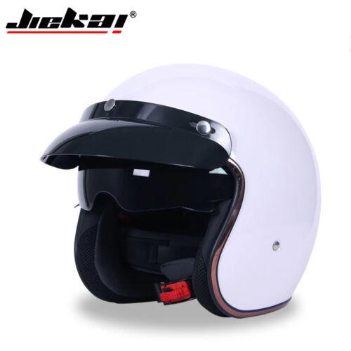 JIEKAI Vintage 3//4 Motorcycle Half Helmet Chopper Bike s Jet Helmets Retro