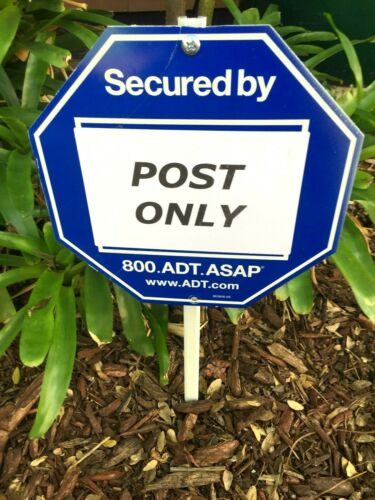 """Sign Post Mounting Stake 22/"""" METAL For ADT Brinks Ring Home Security Lawn Signs"""