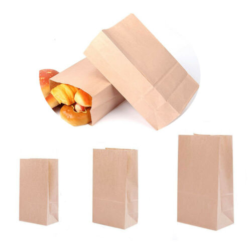 Disposable Food Packaging Brown Paper Gift Bags Environmentally Friendly Bags