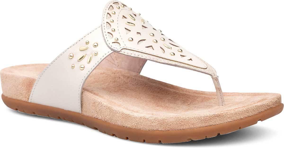 Dansko Wouomo Benita Leather Thong Sandals Ivory Full Grain Dimensione 38, 40, 42