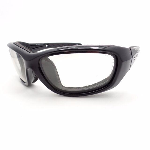 afae1d2f2d Wiley X Gravity Biker La Gloss Black Frame Grey Lens Sunglasses CCGRA05
