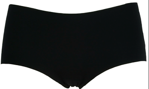 3 Pack of Smooth Black Low Rise No VPL Shorts  with Laser Cut Edges Size 12