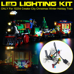 USB LED Beleuchtung Set Für LEGO 10254 Creator City Weihnachten Winterurlaub Zug