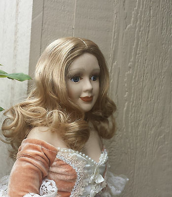 "Doll Wig - W279 Luxurious waves, center part size 5""(head): CHOICE of color."