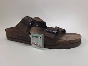 5f654478b0c Image is loading Mephisto-Norman-Dark-Brown-Nubuck-Comfort-Sandal-Slide-