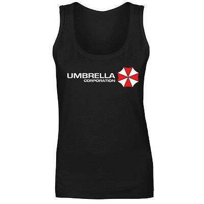 Womens Umbrella Corp Resident Evil Logo Vest Tank Top NEW UK 8-18