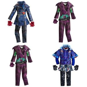 Details about Disney Store Descendants Costume Mal Evie Halloween Dress  Faux Leather Jacket