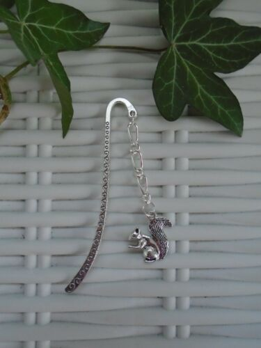 SQUIRREL BOOKMARK SILVER PLATED GIFT READING BOOKS PRESENT SQUIRRELS GARDEN NEW