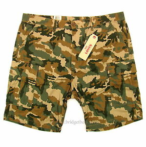 2b442db5 NWT Levi's Mens Carrier Cargo Shorts GREEN CAMO Loose Fit Levi SIZES ...