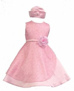 c28085d26be7 Baby Infant Girl Toddler Pageant Easter Wedding Formal Party Pink ...