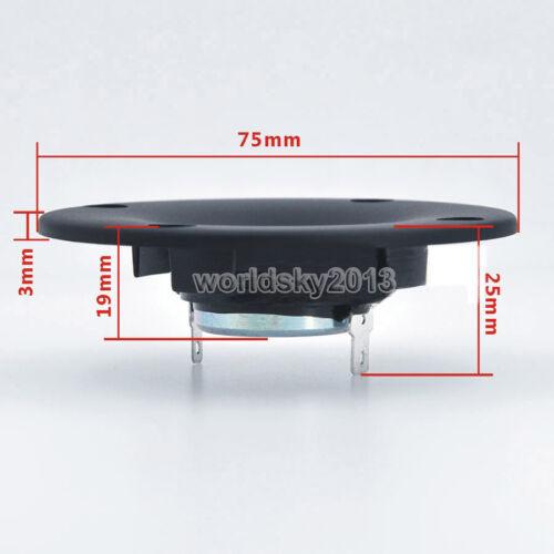 "2pcs 75mm 3/"" inch 6ohm 25W Silk Film Tweeter Car Audio Speaker Loudspeaker Horn"