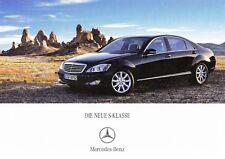 MERCEDES S-KLASSE W221 600 500 350 320 CDi Prospekt Brochure Buch 2005 67