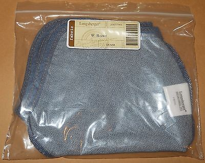 Longaberger Small Gatehouse Basket Denim Fabric Liner Over Edge New In Bag