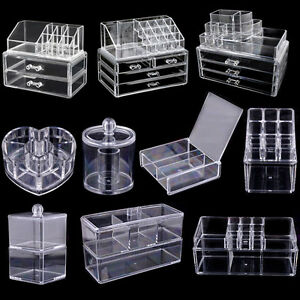 Acrylic-Clear-Make-Up-Organiser-Cosmetic-Display-Jewellery-Drawers-Storage-Case