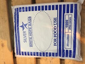 1000 x Plastic HDPE COUNTER BAGS Food STRONG Butchers Bakery Shop 7x14/'/'//18x35cm