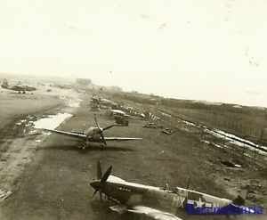 Org-Photo-US-31st-Fighter-Group-Spitfire-Fighter-Planes-Dispersed-on-Airfield