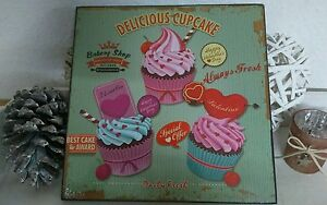 CUADRO-MADERA-CUADRO-clayre-amp-eef-Cupcake-Muffin-Tartita
