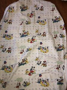 Guc Vintage Baby Disney Fitted Crib Sheet Mickey Minnie Pluto Bubbles Balloon Ebay