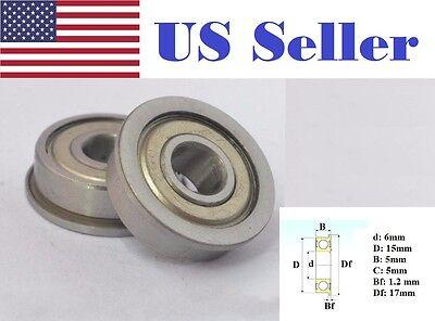 New 5pcs Flange Ball Bearing F676ZZ 6*10*3 mm Metric flanged Bearing